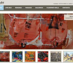 JuozasArt galerijos tinklapis