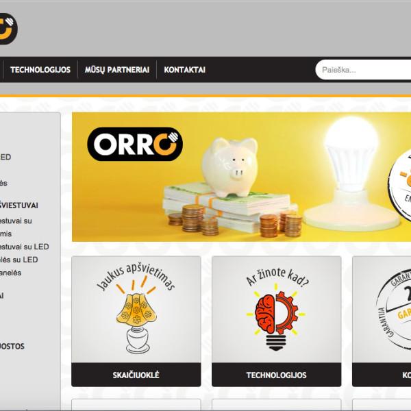 Orro prekės ženklo tinklapio sukūrimas