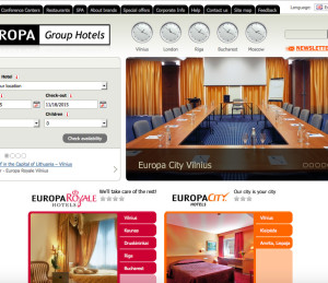 Europa Group Hotels tinklapis