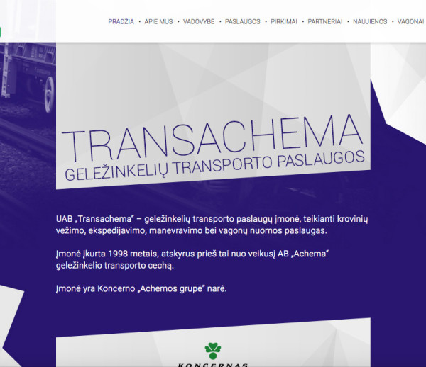 Transachema.lt tinklapis
